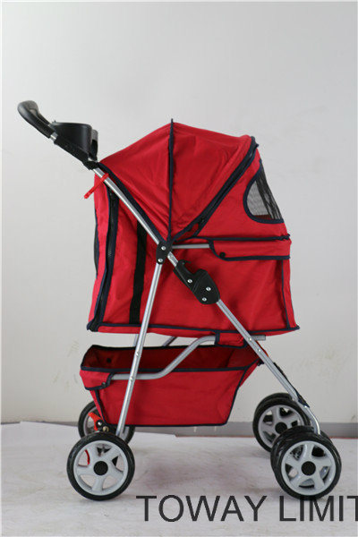 Large Dog Stroller 4 Wheels Outdoor Carrier Pet Strollers