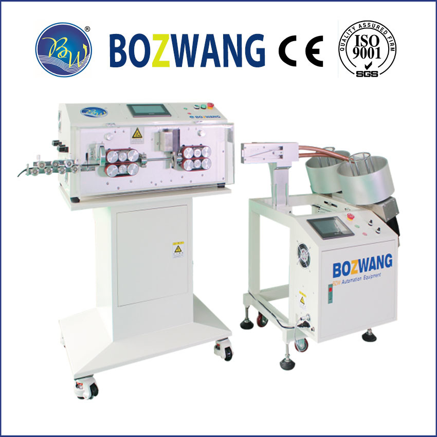 Computerized Cutting and Stripping Machine with Wire Winding Unit