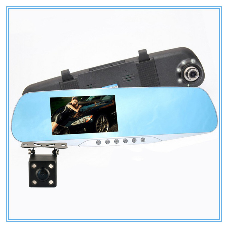 Dual Lens Video Recorder Night Vision with Car DVR