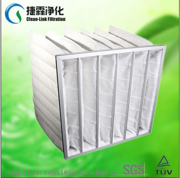 F9 White Color Pocket Filter Material Clean-Link manufacturer