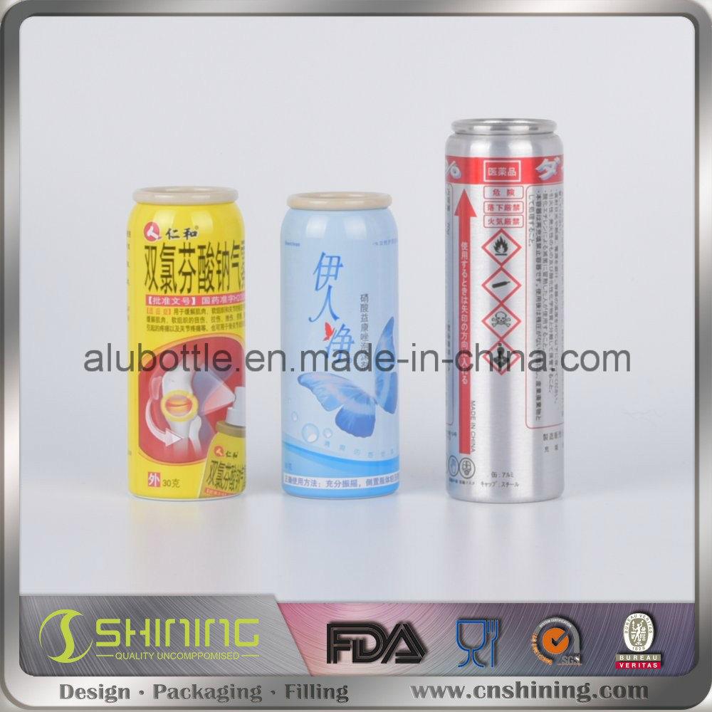Aluminum Aerosol Spray Can for Cosmetic