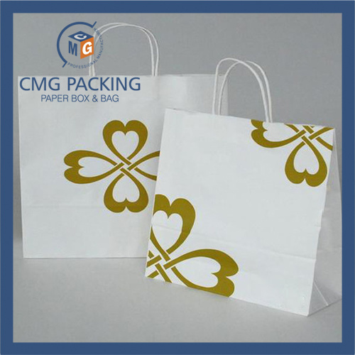 Custom Made Logo Printed Brand Paper Gift Bag for Shopping Wholesale (DM-GPBB-011)