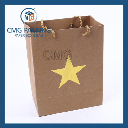 Hot Foil Stamping Kraft Paper Bag (CMG-MAY-055)