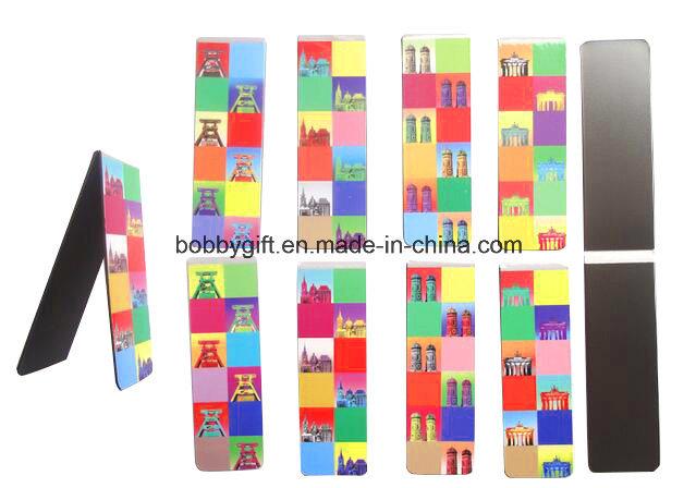 Hot Sale Custom Folding Paper Fridge Magnet Bookmark
