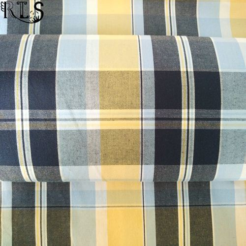 100% Cotton Poplin Woven Yarn Dyed Fabric for Shirts/Dress Rlsc40-6