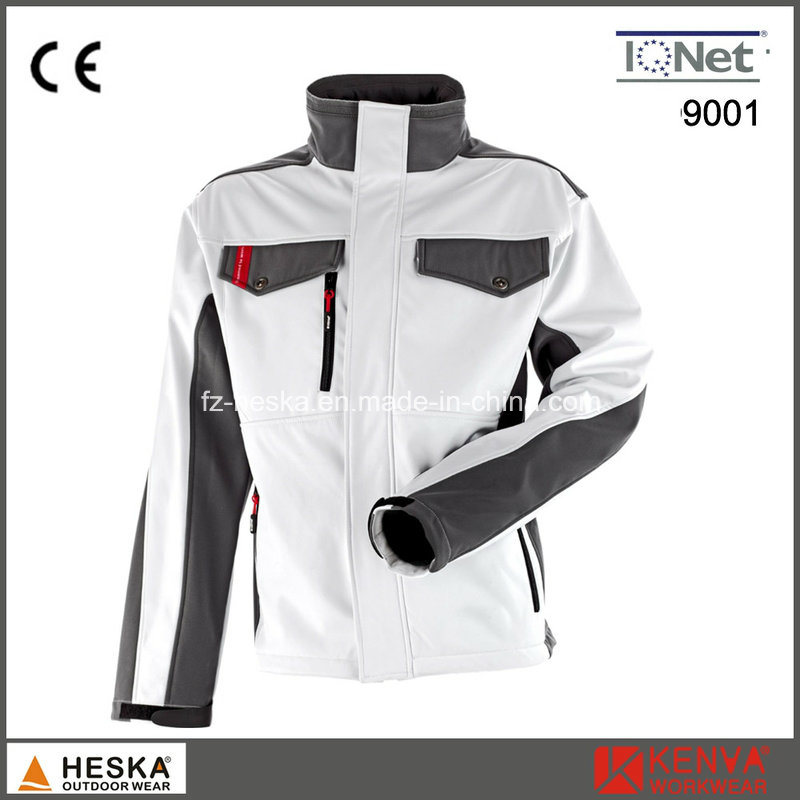 TPU and Fleece 3 Layer Workwear Men Softshell Jacket