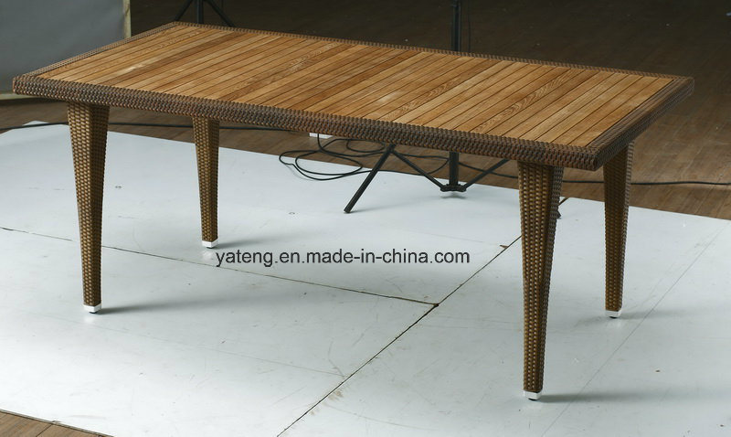 Top Quality Hotel Furniture Chair &Teak Table Set Outdoor Waterproof Dining Set (YTA100&YTD368)