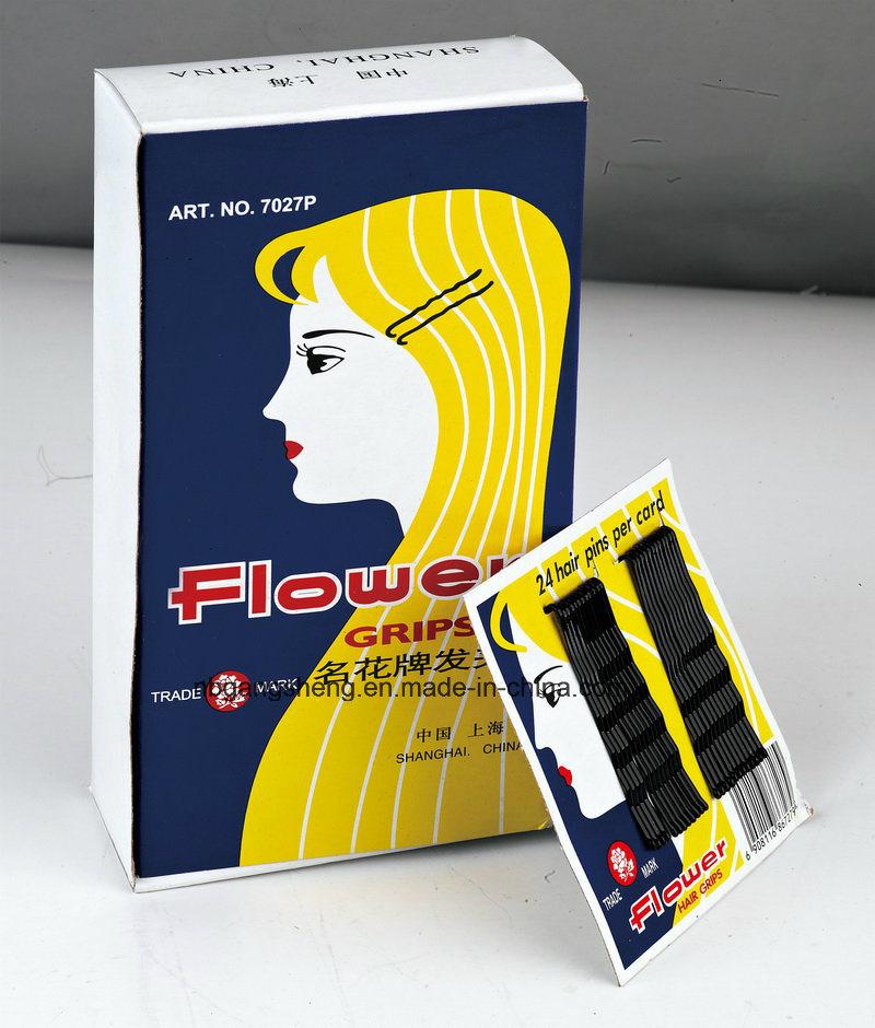 Hot Design Steel Hiar Pin Flower Hair Grip 7027p for Making up