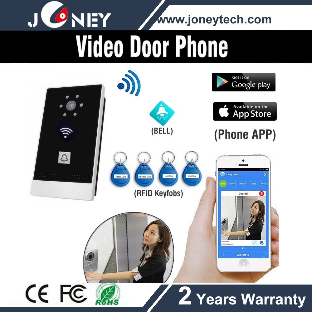 Smart Phone WiFi Wireless Video Door Phone with Card Reader