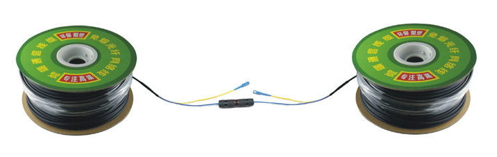 SMF/ Single Mode 2 Core Fiber Optic Cable with Power Line