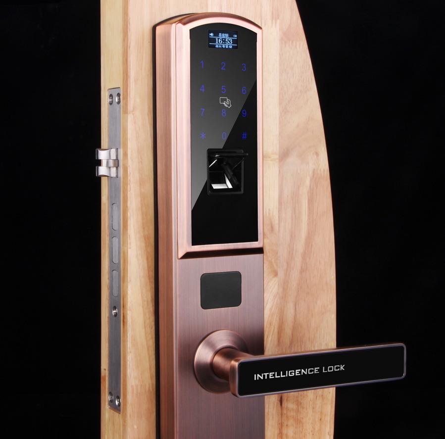 Waterproof Fingerprint Biometric Password Qr Code Door Locks