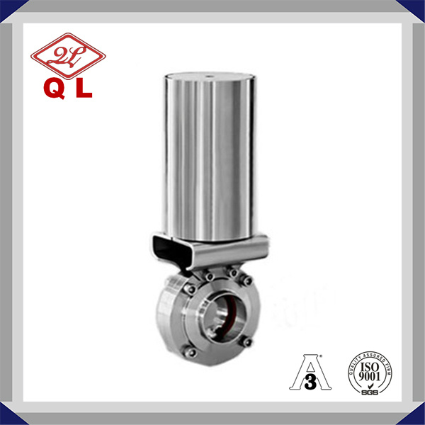 Sanitary Stainless Steel Pneumatic Actuated Butterfly Valve