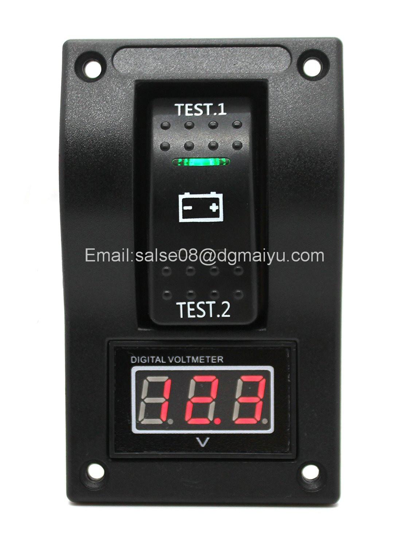 Voltmeter Battery Test Panel Rocker Switch Dpdt/on-off-on for Marine Boat RV ATV 5-30V DC