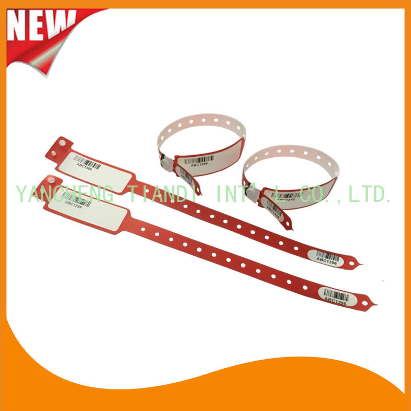 Barcode Hospital Logo Customized Identify Band Medical ID Bracelet (8027-2-1)