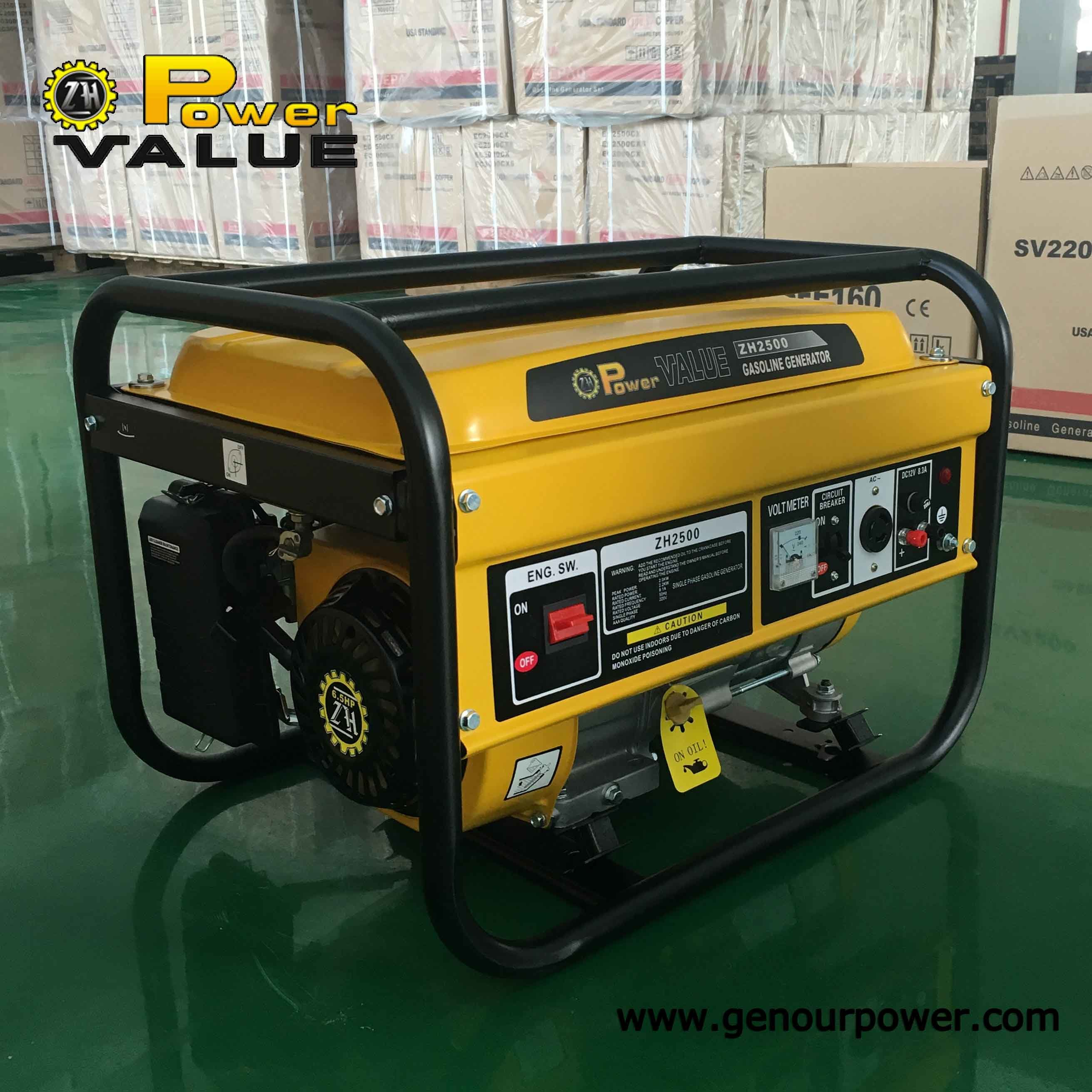 China Factory Price China Petrol Gasoline Portable Generator