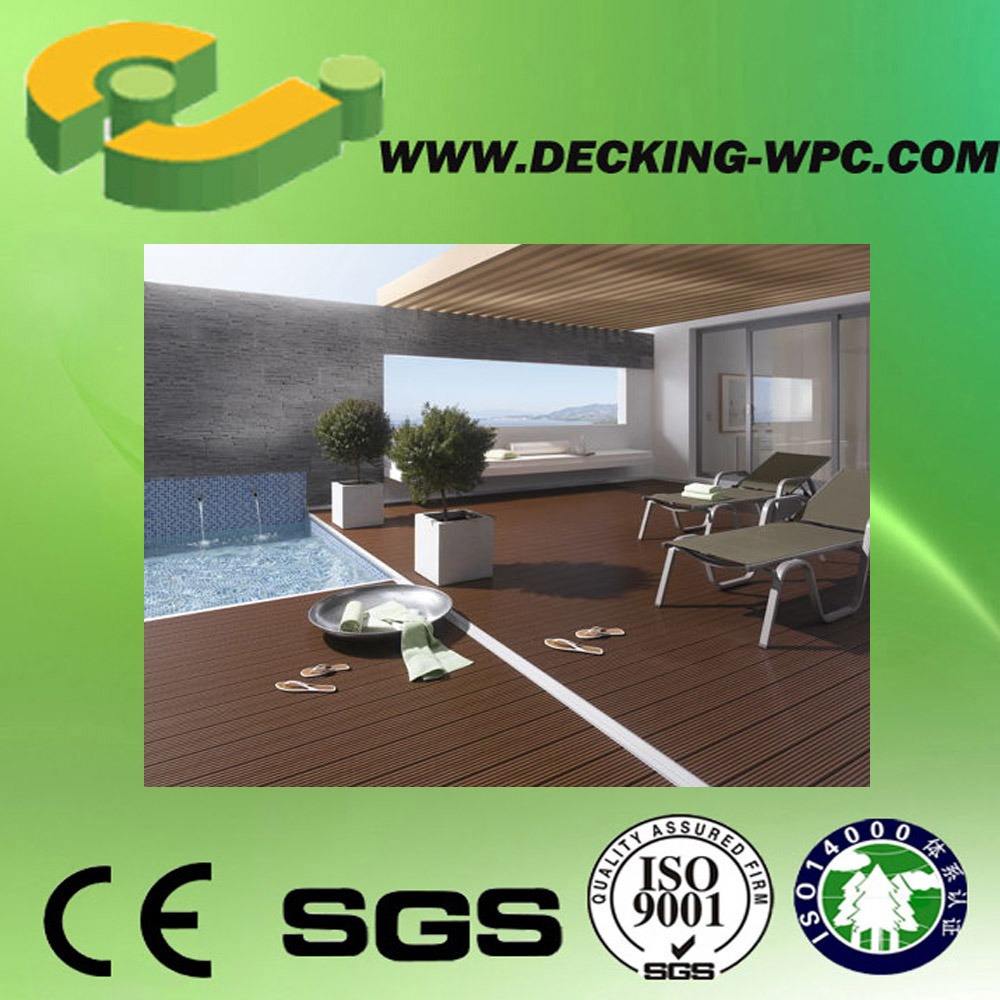 Waterproof Composite Engineered Decking /Outdoor WPC Decking Floor