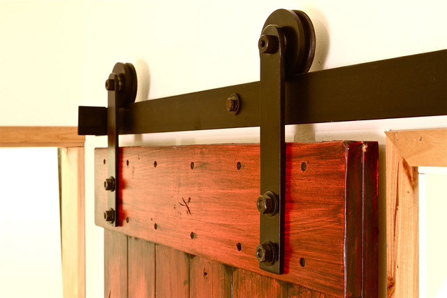 Contemporary Style Sliding Barn Door Hardware Roller & Fittings for Barn Door