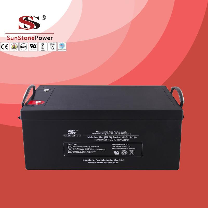 Rechargeable Battery Sealed Lead Acid Battery Sunstone Brand 12V 250ah Solar Battery