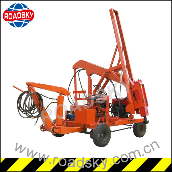 Installing Highway Guardrail Hydraulic Piling Machine for Sale