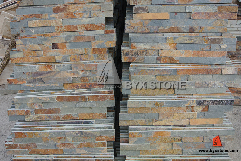 Wood Yellow Quartzite / Slate Culture Stone for Wall