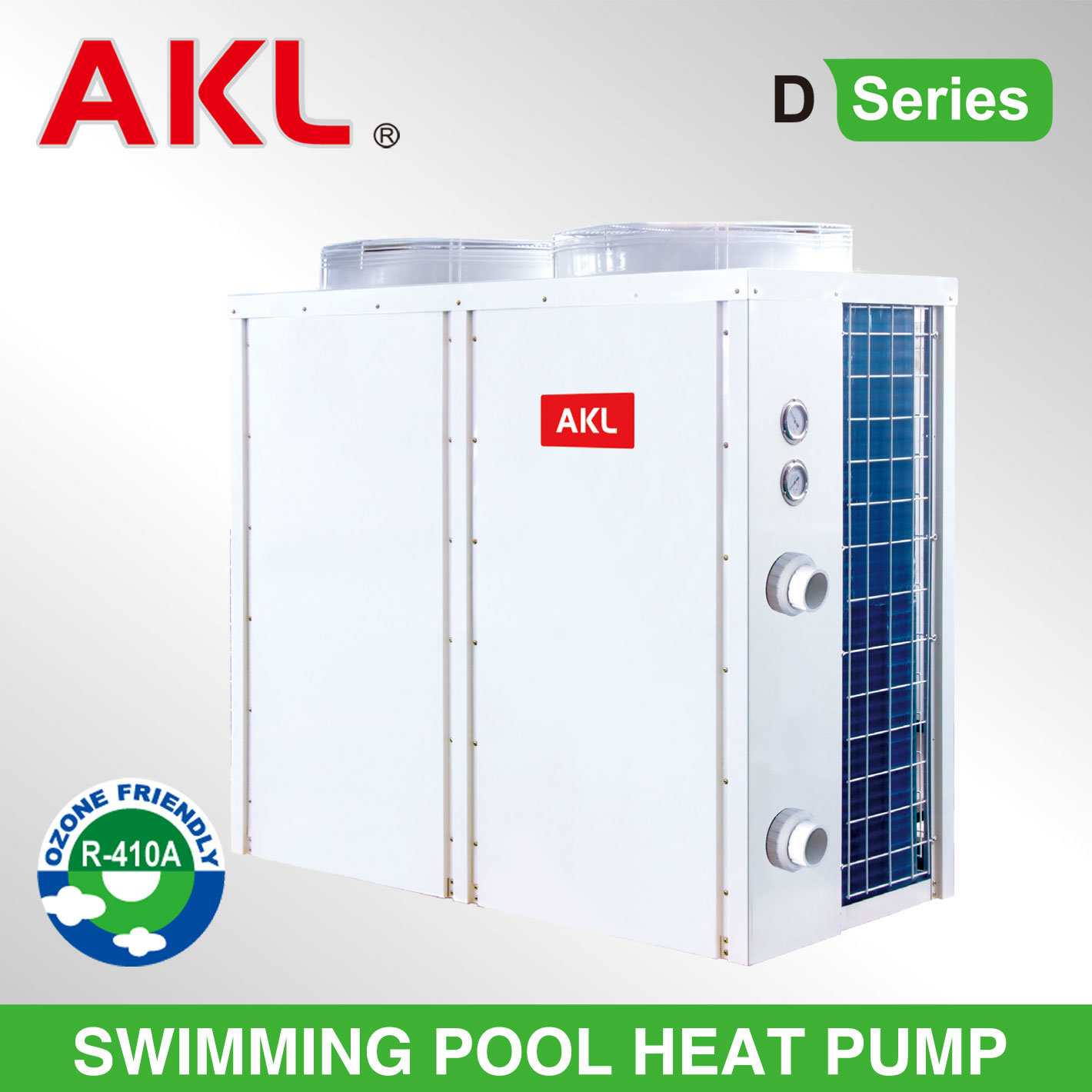 Stylish Air Source Swimming Pool Heat Pump with 3 Years Warranty