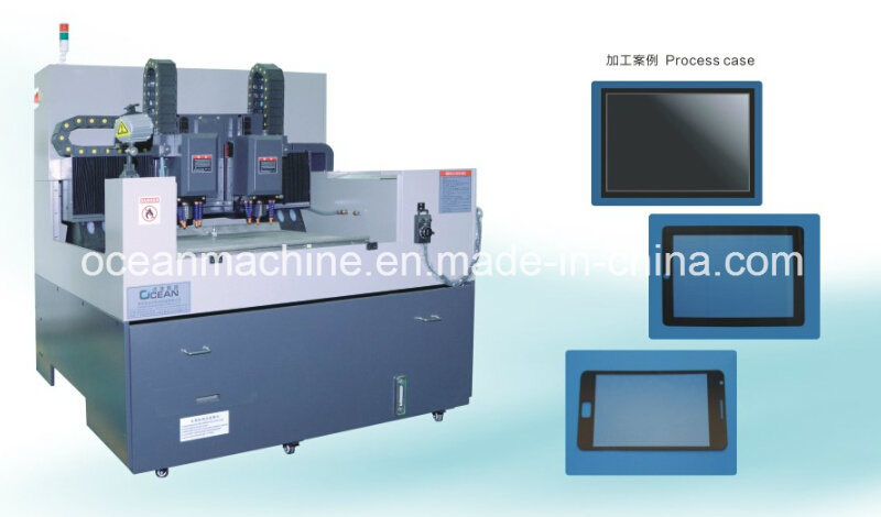 Double Spindle Shape Grinding and Inner-Hole Processing CNC Machine for Big Size Glass Engraving