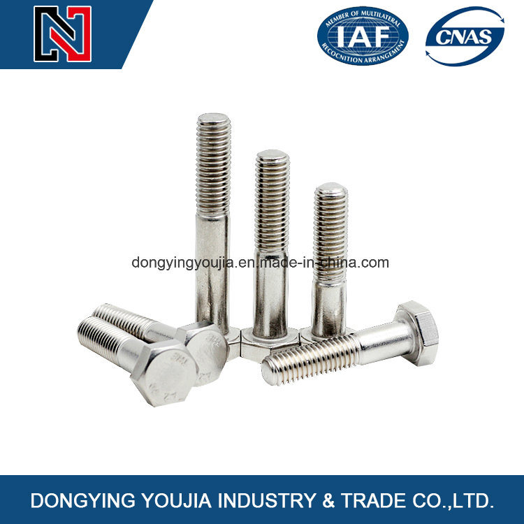DIN931 Stainless Steel Hexagon Head Bolts