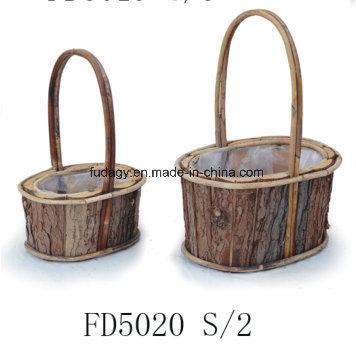 Durable Handicraft Wooden Pot with Handle