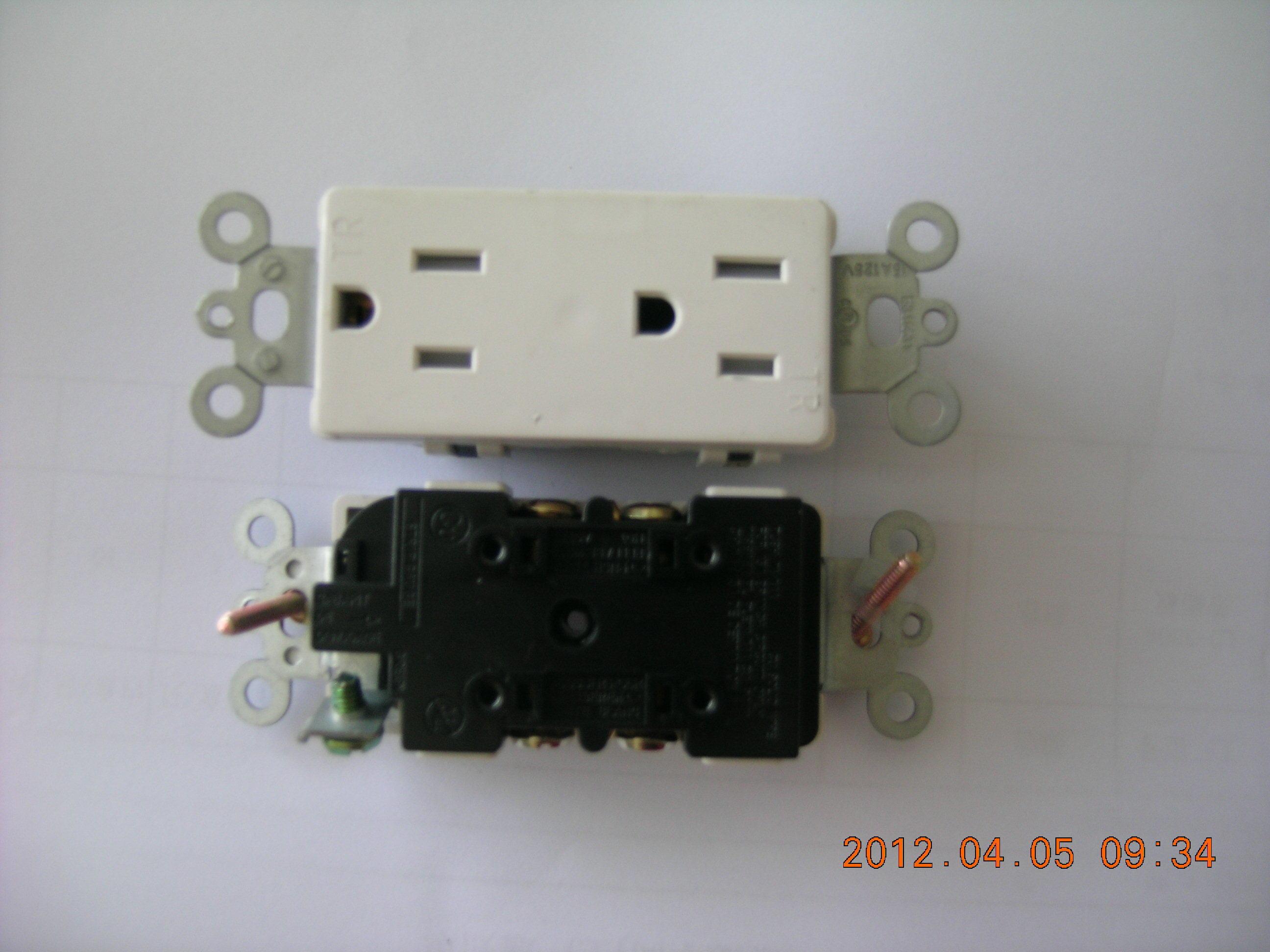 UL, Tamper-Resistant, Decora Plus Duplex Electrical Receptacle
