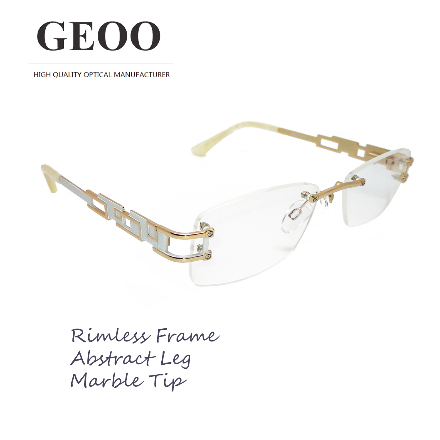 Stainless Abstract Optical Frame (XS5589 C1)