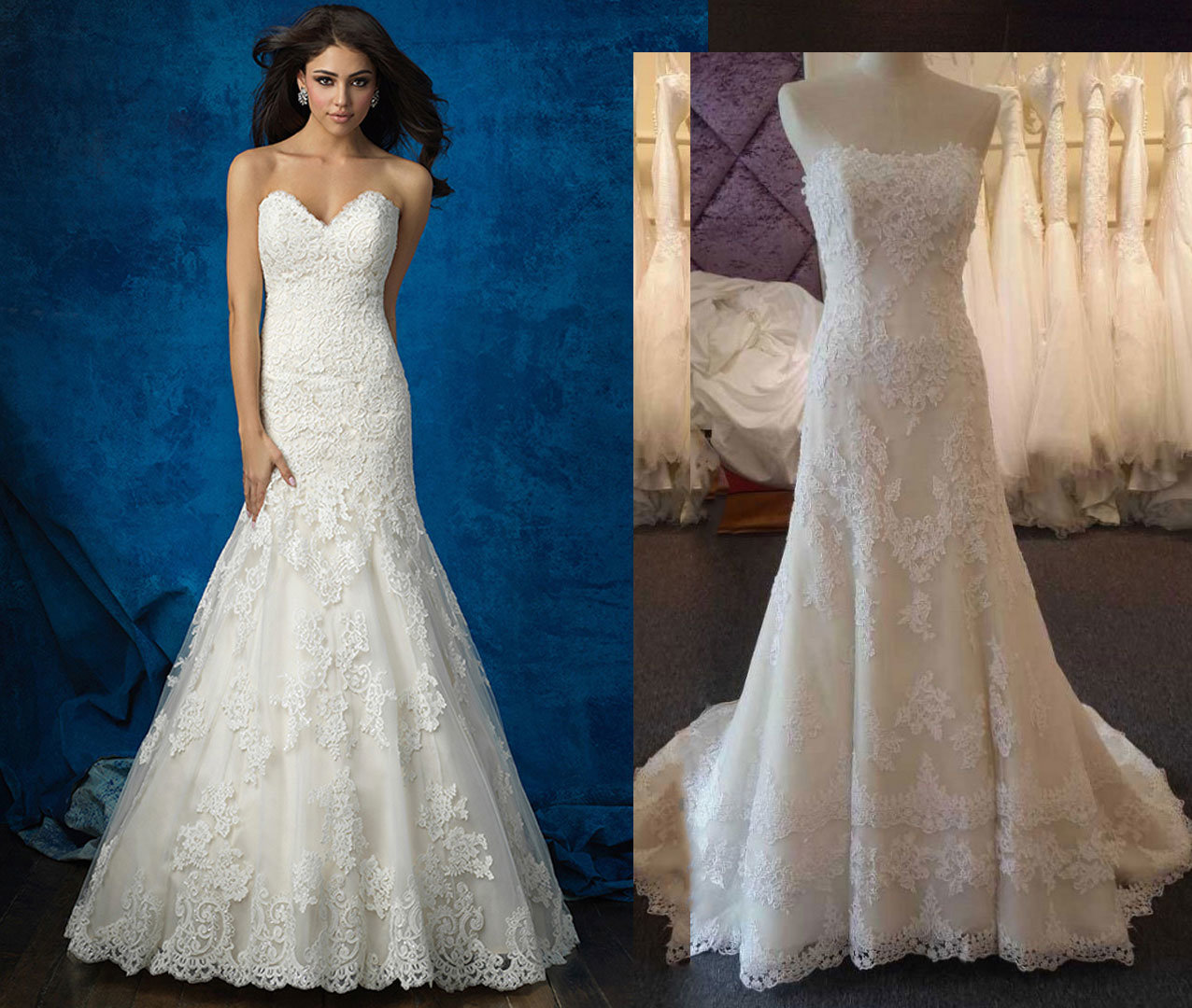 Fit and Flare Lace & Tulle Wedding Dress