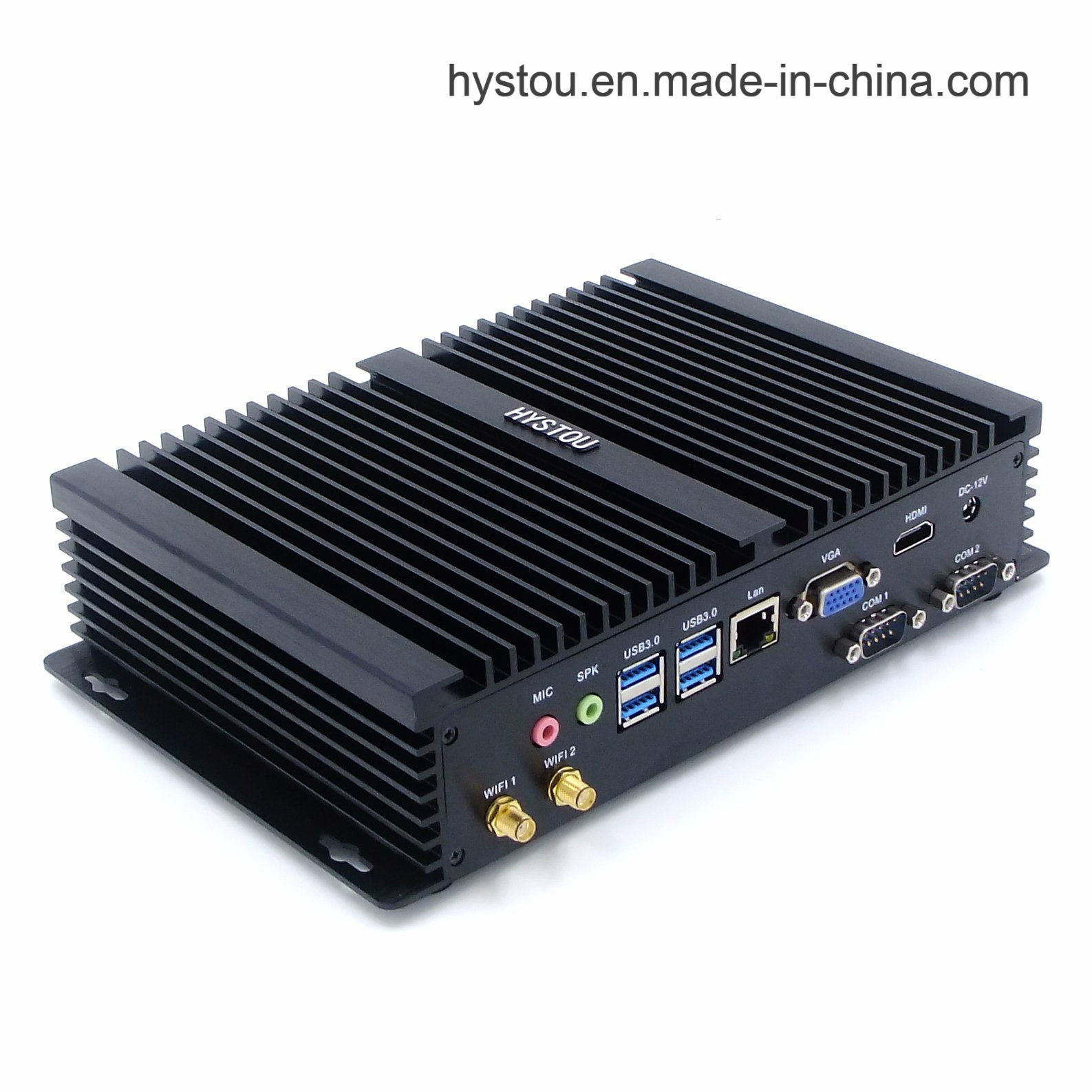 Fanless Mini PC I5 Industrial Computer with Dual Display Windows 10 PRO