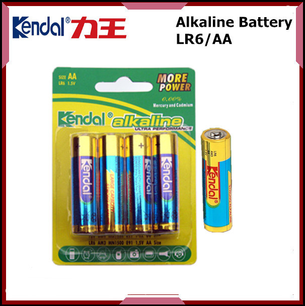 Super Power Dry Cell 1.5V AA Battery Lr6 Alkaline Battery