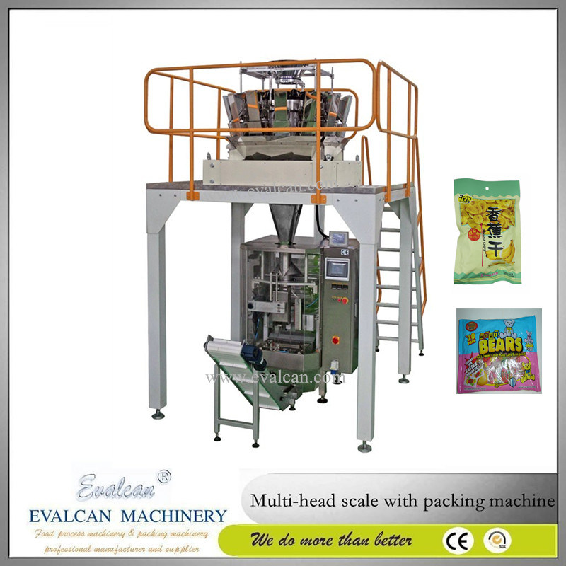 Automatic Vertical Cashew Nut Packing Machine with Multihead Weigher
