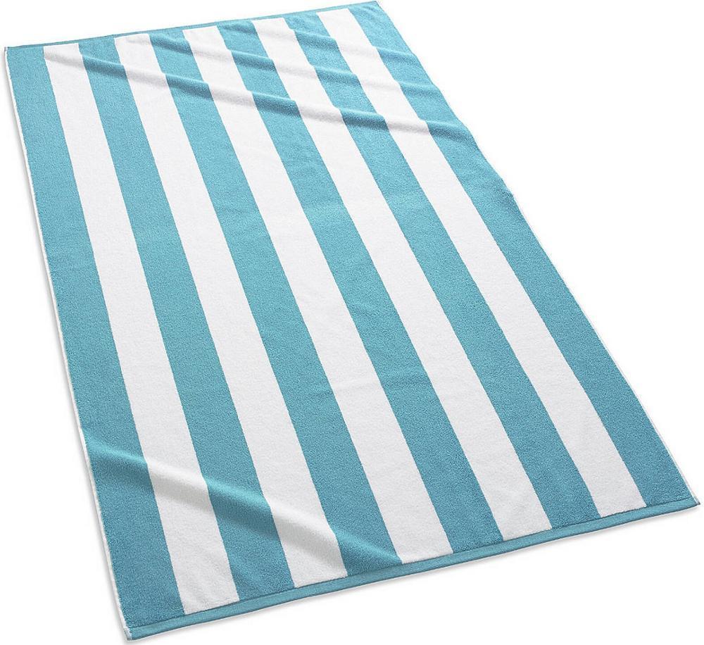 100% Cotton Colour Striped Pool Bath Towel Beach Towel