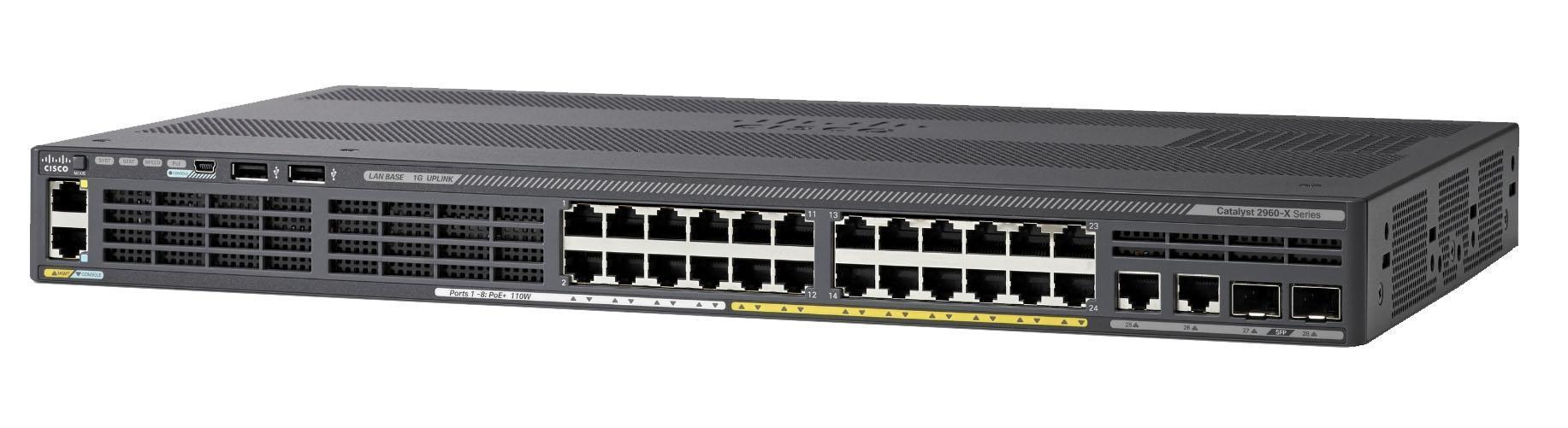 New Cisco 24 Ports Poe Gigabit Network Switch (WS-C2960XR-24PS-I)