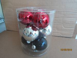 Blue Glass Ball with Animal Decal for Christmas Decoration