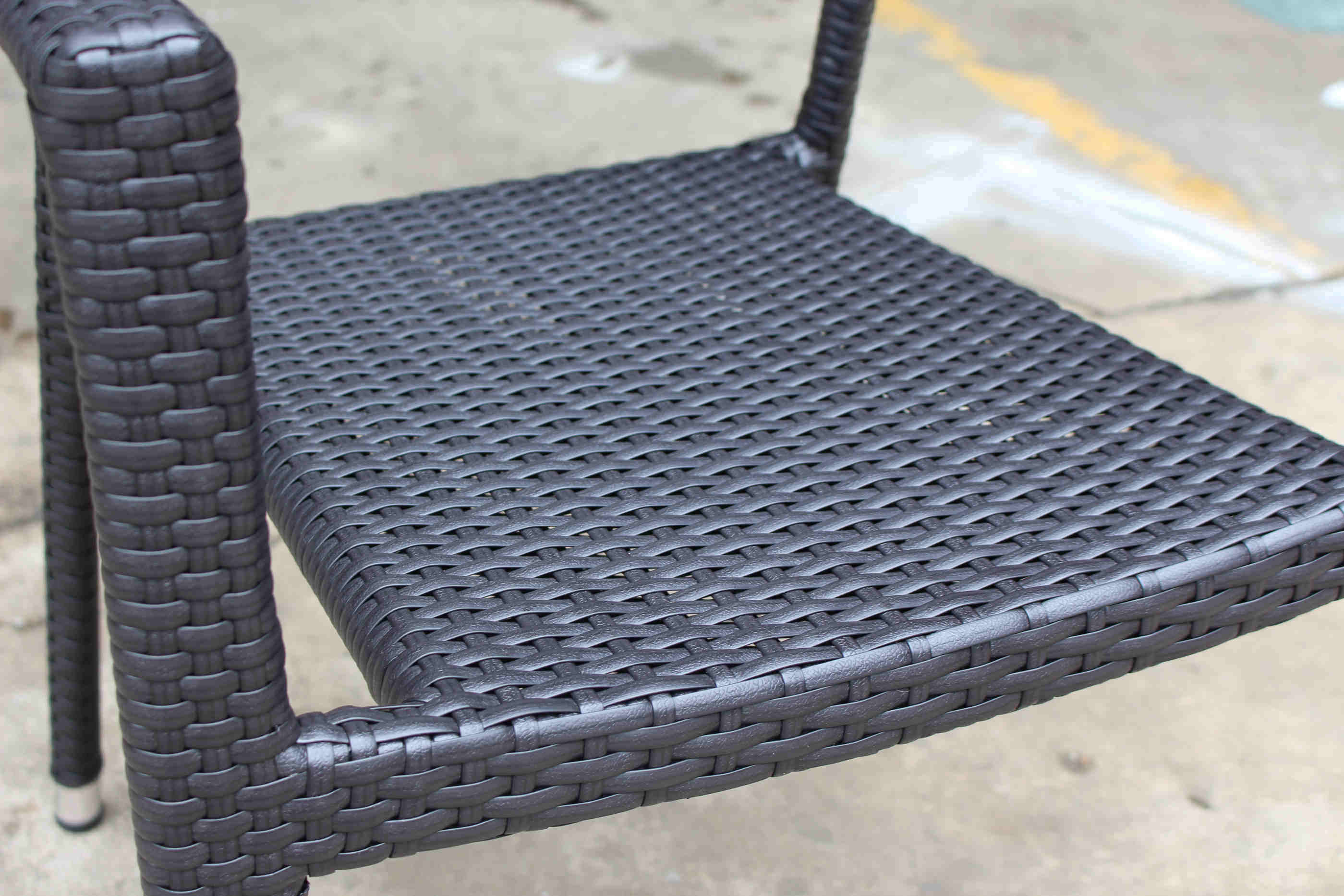 Dining Chair Woven Rattan Chair Outdoor Furniture Cafe Restaurant Arm Chair