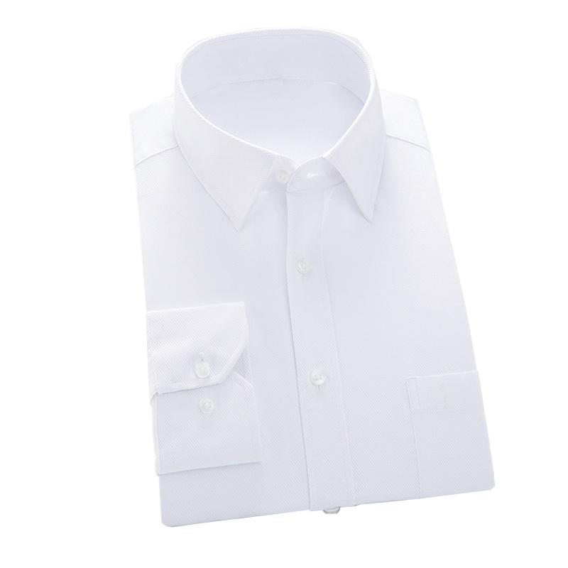 Classical Design Men′s Formal Blue Color Dress Shirt of Cotton