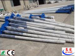 Hot Galvanized Solar Street Lighting Pole Price