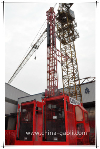 2017 High Safety Sc120/120 Vertical Construction Hoist Building Lifter