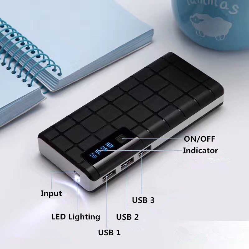 Universal 10000mAh Portable Charger Mobile Power Bank with 3 USB