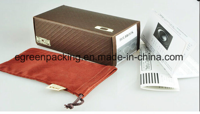 Custom Paper Box and Microfiber Pouch for Sunglasses/Eyeglasses