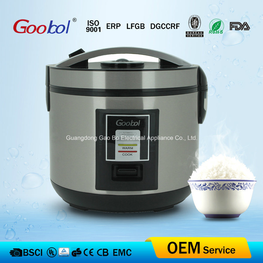 4L Deluxe Rice Cooker Stainless Steel Body and Nonstick Coating Cooking Pan