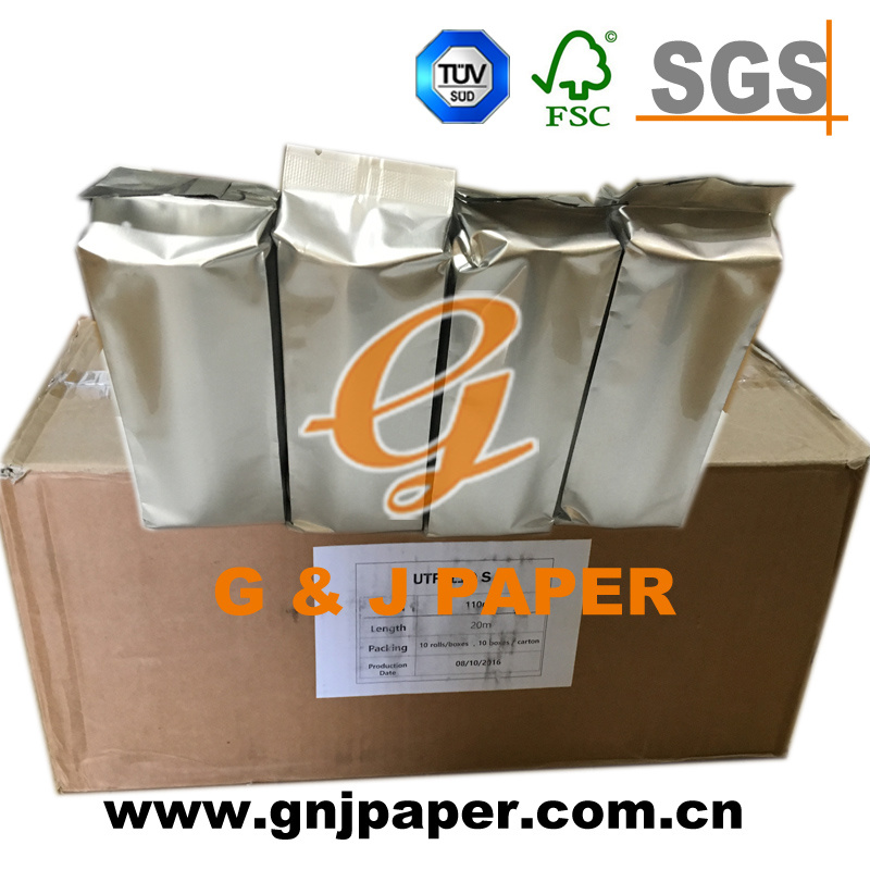 20 Meters Length Ultrasonic Thermal Paper Roll with Paper Core