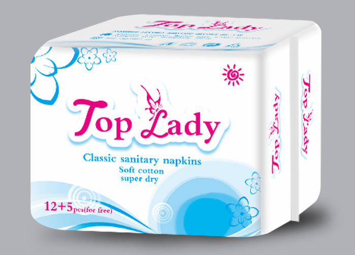 Sanitary Napkin/ OEM Service/ Sanitary Towels/ 12 Napkins+5 Panty Liner