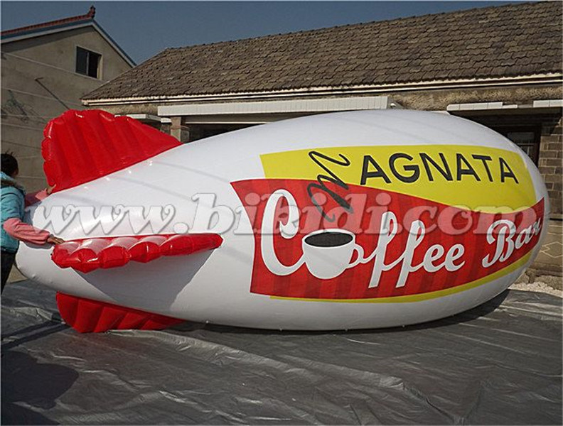 6m Long Advertising Inflatable Helium Zeppelin, PVC Inflatable Airship/ Blimp for Sale K7091