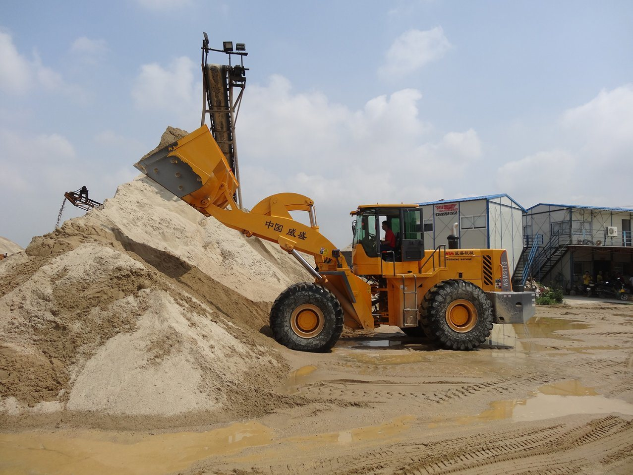 9 Tons Wheel Loader for Quarry Clearing with Ce