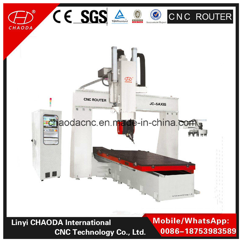 2016 Best Selling! ! Jc3040 5 Axis CNC Cutting Router Machine for Big Mould