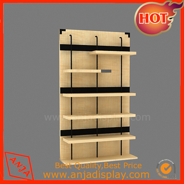 Wood Display Table Display Rack for Shoes Shop